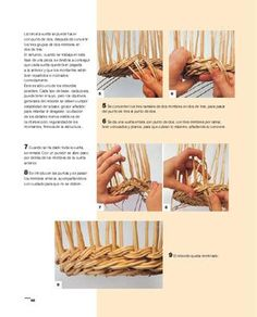 ISSUU - Oficios artísticos - Cestería by Parramón ediciones, s.a. Rattan, Wicker, Rolled Paper, Basket Decoration, Basket Weaving, Baskets, Arts And Crafts, Paper Basket, Journaling