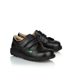 144198d472a0 Boys  Kick Lo  Strap Shoe - Black. Boys School ShoesBlack Leather ...