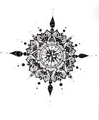 Image result for compass tattoo design