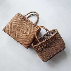 always wanted to make a basket into a purse...just like these, but adding a floral liner and draw string closure at the top :)