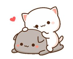 Pin by SaSu Akahime on Süße tiere in 2020 Cute Anime Cat, Cute Cat Gif, Cute Love Pictures, Cute Love Gif, Cute Cartoon Pictures, Cute Love Cartoons, Cute Bear Drawings, Kawaii Drawings, Pixel Kawaii