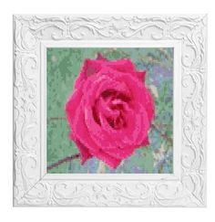Cross stitch pattern rose Pink English Rose  £3.60 by CraftwithCartwright