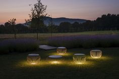 The Vibia Meridiano is an outdoor lamp that boasts different functions, where matter and light are integrated in a single body. Meridiano can be used as outdoor seating by day and an outdoor lamp at night. Designed by Jordi Vilardell & Meritxell … Outdoor Floor Lamps, Outdoor Flooring, Outdoor Lighting, Outdoor Decor, Landscape Elements, Landscape Design, Garden Design, Lamp Design, Lighting Design