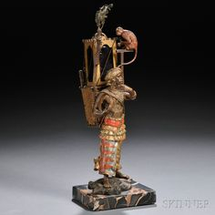 Austrian Figural Cold-painted Bronze Boudoir Lamp | Sale Number 2645B, Lot Number 896 | Skinner Auctioneers