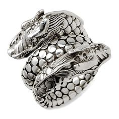 Women's John Hardy 'Legends' Dragon Coil Ring (610 CAD) ❤ liked on Polyvore featuring jewelry, rings, accessories, dragon, sterling silver jewelry, john hardy, wrap around rings, john hardy jewelry and sterling silver cocktail rings