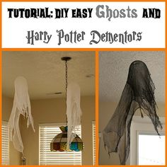Tutorial: Making Ghosts and Dementors. Perfect Halloween craft for the Harry Potter fans, young and old. Kidfolio - the app for parents - kidfol. Baby Harry Potter, Harry Potter Motto Party, Harry Potter Dementors, Harry Potter Fiesta, Harry Potter Thema, Classe Harry Potter, Cumpleaños Harry Potter, Harry Potter Halloween Party, Harry Potter Classroom