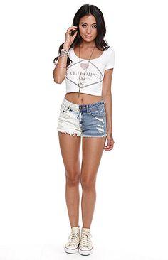 Kendall & Kylie High Rise Dual Bleach Shorts at PacSun.com
