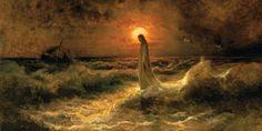 "Julius von Klever, Crist walking on the waters (Юлий Клевер, ""Христос идущий по воде"")"
