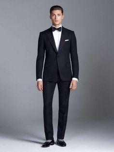 New-Arrival-Black-Mens-Suits-For-Wedding-Peaked-Lapel-Two-Piece-Men-Suits-Slim-Fit-Groomsmen.jpg (980×1305)