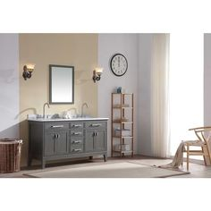 Photographic Gallery Ari Kitchen and Bath Danny inch Double Bathroom Vanity Set Overstock