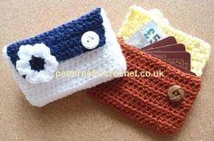 (4) Name: 'Crocheting : pfc118-Card Pouch-Purse crochet pattern
