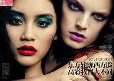 Lisa Houghton for Vogue China, Hanne Gabby Odiele and Ming Xi by David Stijper.