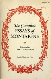 michel de montaigne the complete essays pdf Michel de montaigne the complete essays the complete essays by michel de montaigne, the complete essays has 10,360 ratings and 328 reviews geoff said: okay i've read.
