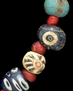 Phoenician Glass Eye Bead Necklace, c. 6th-2nd..