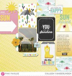 #papercraft #scrapbook #layout.  Introducing Hello Sunshine