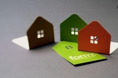 3-D business cards by architects. | Metamorphosis Realty + Design-Build