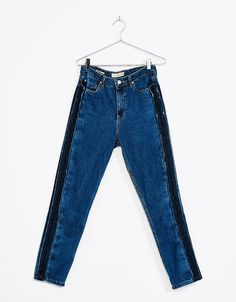 Mom fit jeans met streep opzij - Jeans - Bershka Netherlands