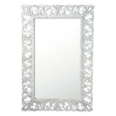 Mirrors on pinterest baroque shabby chic mirror and for Miroir baroque rectangulaire