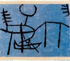 Paul Klee - Having fun on the canal with the boat