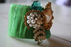 Make a vintage looking jewel encrusted cuff bracelet with this craft project from 3 Four and Under.