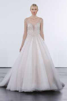 Modern Ball Gown Wedding Dress by Dennis Basso - Image 1 zoomed in Long Wedding  Dresses abc01891af3b