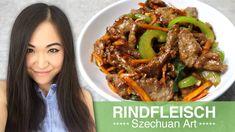 REZEPT: Rindfleisch Szechuan Art | chinesisches gebratenes Rindfleisch - YouTube