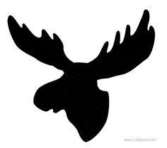 moose head black and white - Google Search