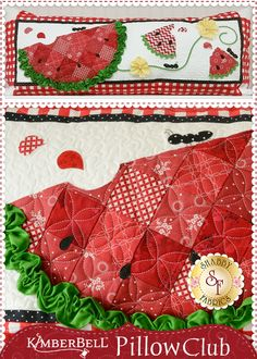 Join Fabrics' Kimberbell Pillow Club to receive a kit each month of the year to create a unique and cute pillow! Sewing Pillow Patterns, Sewing Pillows, Quilt Patterns, Cute Quilts, Small Quilts, Mini Quilts, Quilting Projects, Quilting Designs, Sewing Projects