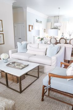 Looking at the Pottery Barn York Slope Arm Slipcovered sofa and wondering if you should buy? My hone Slipcovered Sofa, Deep Seat Cushions, Sofa, Furniture, Pottery Barn Sofa, Furniture Layout, Pottery Barn, Comfortable Sofa, Interior Design