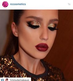 Get your glitter before #xmas. ・・・www.rc-cosmetics.com NYE look ✨ @amadea_dashurie