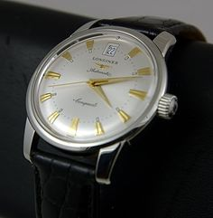 OK so I am acutely aware that my timepiece taste is looking rather one dimensional - black-faced dive watch with a vintage-y feel. NO MORE! I love this Longines Conquest Heritage, in the flesh the hour markers are not quite so strikingly gold (far more subtle) and the face has a nice silver-brass shade to it. And all for comfortably less than a thousand Pounds. Result.