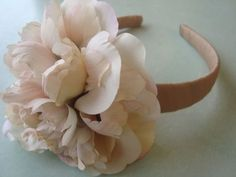 Super cute flower headbands. Gift for sister or cousin. Also make poinsettia ones to wear with holiday dresses.