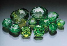 Demantoid Garnet Crystals