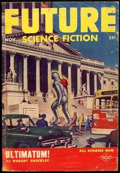 Science fiction plus dec 1953 cover by frank r paul scifi