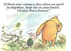 Winne the Pooh and Piglet Quote 4x6 Art Print. $3.00, via Etsy.