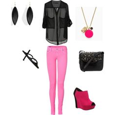 Untitled #79 (TRUE RELIGION Neon Pink Shannon Skinny Jeans $96.30)