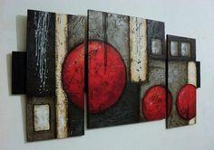 cuadros abstractos tripticos muy hermosos