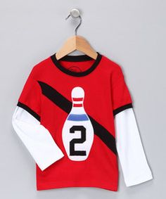 Bowling Applique shirt (by Pink Chandelier on Zulily)