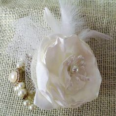Hey, I found this really awesome Etsy listing at https://www.etsy.com/uk/listing/526375447/ivory-flower-corsage-wedding-wrist