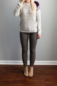 Love the sweater also the jeans are a color I've never tried before but id like to at some point