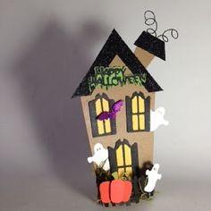 Halloween Shopaholic: Cute Little Chipboard Haunted Houses