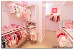 #LuxuriousNursery Designed by #LittleCrownInteriors - Featuring a pink closet fit for a princess!