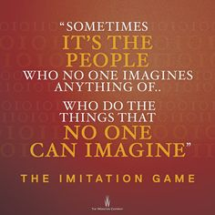 What's your favorite quote from The #ImitationGame? See The Imitation Game in theaters today -- http://fandan.co/1Ghn6Y2