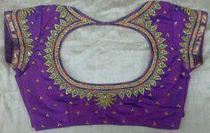 Pattu blouse with zarkan stone work 7702919644
