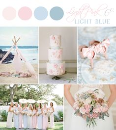 Light Pink and Light Blue inspiration board designed by Sarah Park Events