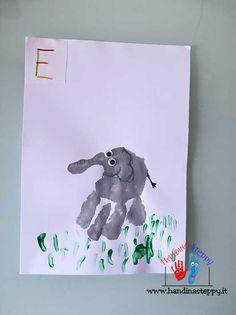 E come Elefante-Alfabeto con Impronte | Lavoretti bambini | Nunzia Bruno