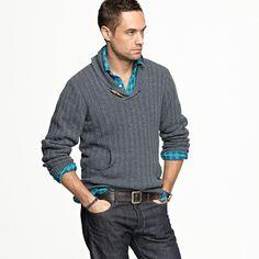 shawl collar sweaters rock