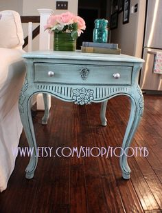 Glazed End Table Turquoise Furniture
