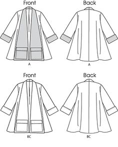 Butterick 5716 Misses' Retro '53 Swing Coats Pattern XS-M 4-14 or L-XXL 16-26