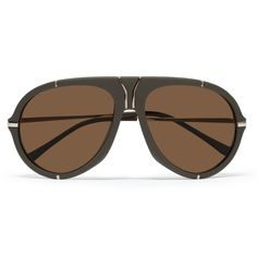 Yves Saint Laurent Matte-Acetate Aviator Sunglasses | MR PORTER